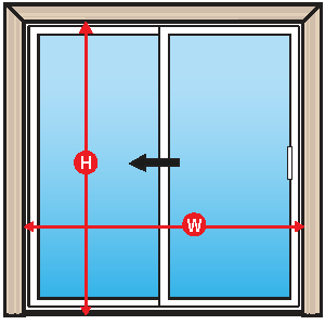 All Measurements To Be Taken Form The Interior Of Your Patio Door Opening